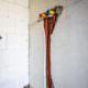 Pinke Montage Wasseranschlüsse